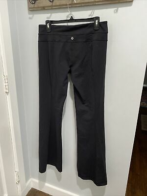 $ CDN7.59 • Buy LULULEMON Size 10R - Groove Pant III Yoga Flare Black  Leggings EUC