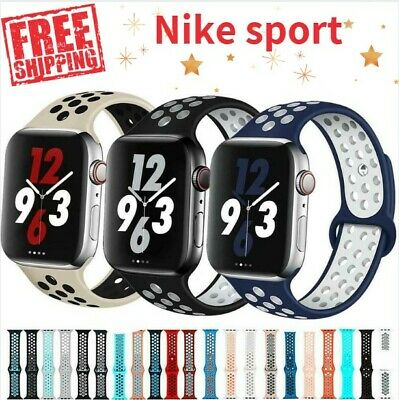 AU9.34 • Buy NEW Silicone SPORT Band 38/40mm 42/44mm For APPLE Watch Series 2 3 4 5 6 Nike ✅
