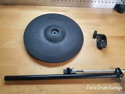 AU277.71 • Buy Roland CY-13R 3 Way Trigger V-Cymbal Ride V-Drum W/Cymbal Arm & Clamp - E6B2077