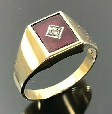 AU345 • Buy 9ct SOLID Yellow Gold Mens Diamond Ring Large Size X 375 Hallmarked Free Post