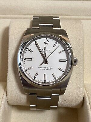 $ CDN7834.68 • Buy Rolex Oyster Perpetual White Dial 114200 Box And Papers