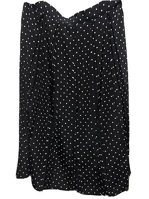 St Michael Ladies Casual Vintage Skirt Size 18 Black Mix  Polka Dot • 2.60£