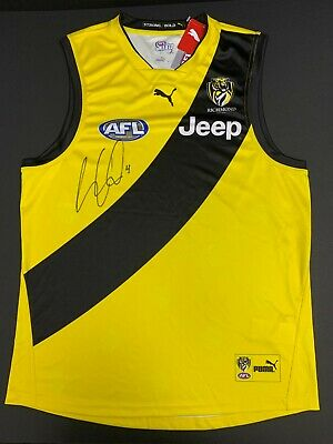AU395 • Buy AFL RICHMOND TIGERS DUSTIN MARTIN HAND SIGNED CLASH GUERNSEY DUSTY Premiers