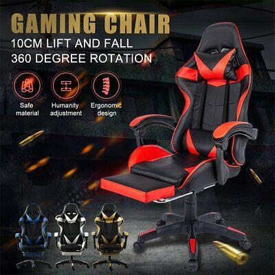 AU128.50 • Buy Gaming Chair Office Executive Computer Chairs Seating Racing Recliner AU STOCK