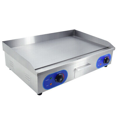 £179 • Buy 4400W  Electric Griddle Commercial Hotplate Flat Grill 73cm Large Countertop UK