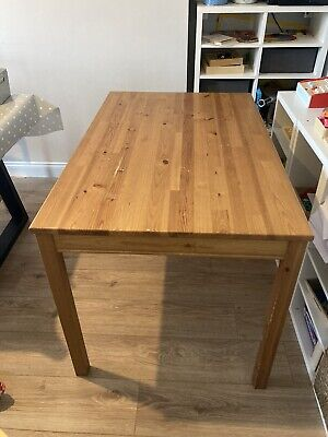 Pine Ikea Dining Table To Seat 4 (No Chairs Included) • 1.04£