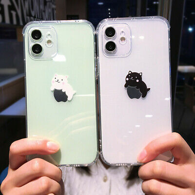 AU4.99 • Buy Cute Cat Patterned Phone Case For IPhone 12 Mini 11 Pro Max 7 XR XS Max Cover