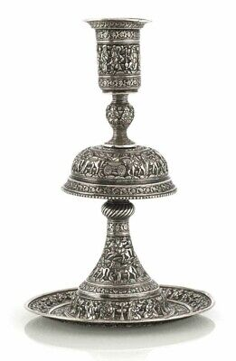 $ CDN4909.36 • Buy Antique MUSEUM QUALITY Persian Islamic Qajar Solid Silver Candlestick By JAFAR