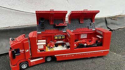 £85 • Buy Lego Speed Champions Ferrari Truck F14T & Scuderia Built Without Lego Figures