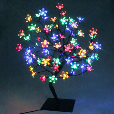 48LEDs Cherry Blossom Tree Light Table Lamp Easter Festival Decoration Colorful • 19.89£