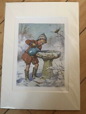 Margaret Tarrant Print - Robins Thirsty • 14£