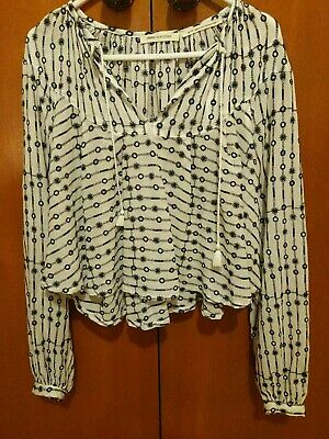 AU45 • Buy Urban Outfitters Boho Peasant Embroidered Cropped Top Blouse BNWT