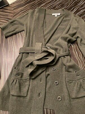 $ CDN12.62 • Buy Anthropologie Beth Bowley Cashmere Green Long Retro Cardigan Belted S