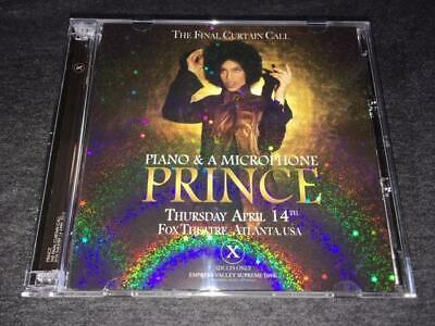 2016 New PRINCE THE FINAL CURTAIN CALL 3CD PIANO  A MICROPHONE LIVE IN ATLANTA • 68.60£