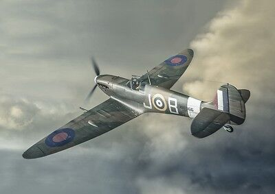 £3.49 • Buy SPITFIRE POSTER - WW2 Aircraft Painting  - Aviation Print - **FREE POSTAGE**