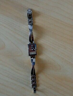 DKNY Ladies STAINLESS STEEL  Quartz SILVER Color Watch Strap WORKING !  • 3.99£