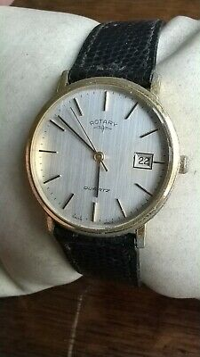 Rotary Mens Vintage Quartz Watch 1724 - Running But Attention Required • 0.99£