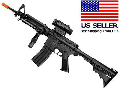 $44.99 • Buy AIRSOFT M4/M16 Style Electric Gun AEG Semi/Fully Automatic + Battery Charger BBs