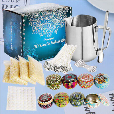 £21.99 • Buy Complete Candle & Melt Making Kits DIY Starter Dyes Wicks Soy Wax Candle Pitcher
