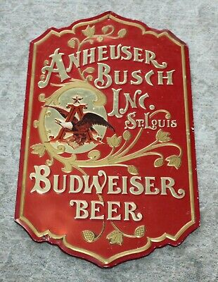 $ CDN12.65 • Buy 80'S BUDWEISER Metal Beer Sign ANHEUSER BUSCH Eagle MAN CAVE DECOR!
