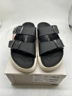 Papillio By Birkenstock Women Arizona Pap Chunky Black Sandals EU38 Cy779 • 57.88£