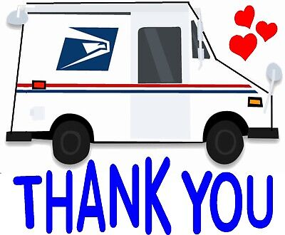 $5.99 • Buy Mail Box Thank You Mailbox Decal Waterproof Sticker Vinyl Car Decal