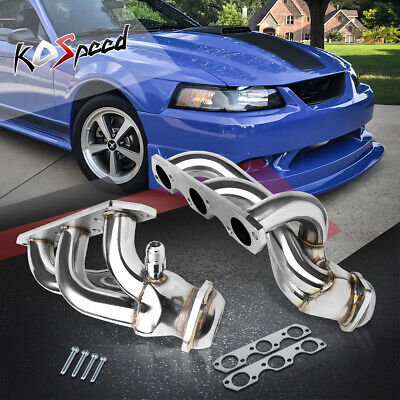 $108.99 • Buy T-304 Metallic Exhaust Performance Header Manifold For 99-04 Mustang 3.8/3.9 V6