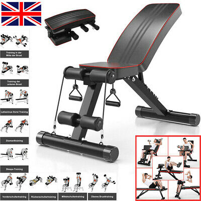 Folding Flat Weight Lifting Bench Body Workout Exercise Benches Home Gym Fitness • 89.99£
