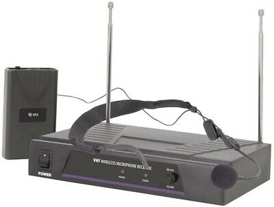 Wireless Headset Microphone System Ideal For Classes Church Groups In Clip Case • 16£