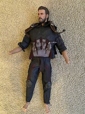 $ CDN184.10 • Buy Hot Toys Captain America Infinity War Outfit And Body Headsculpt Chris Evans 1/6