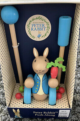 Wooden Push Along Beatrix Potter Peter Rabbit Toy - BRAND NEW IN BOX • 9.99£