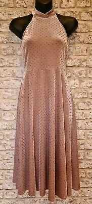 CHELSEA GIRL For RIVER ISLAND Nude Blush Sparkly Spot Dress Size 8 *NEW*  • 10£