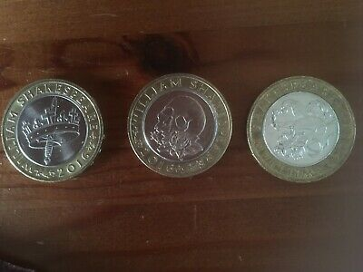 Full Set Of Shakespear's £2 Coins - COMEDIES, TRAGEDY & HISTORIES • 11.99£