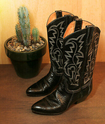 Vintage Sancho 100% Leather SIZE EUR 37 / UK 4 Women Cowboy Boots Made In SPAIN • 33.46£