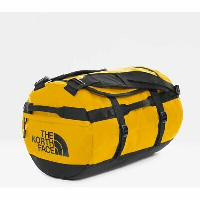 The North Face Base Camp Duffel S Summit Gold Tnf Black Duffle Bag Suitcase Zain • 106.80£
