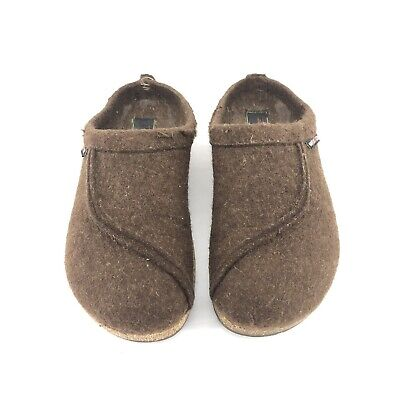 B47) Haflinger US Size 8.5 UK 39 Brown Wool Clogs  Made In Germany • 28.94£