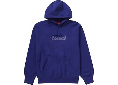 $ CDN290.40 • Buy Supreme Kaws Box Logo Hoodie Washed Navy Size M Medium - Brand New, In Hand