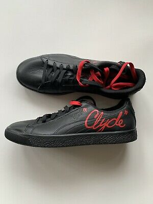 AU32 • Buy Puma Black Clyde With Red Size 10.5 US Mens Shoes BNWB
