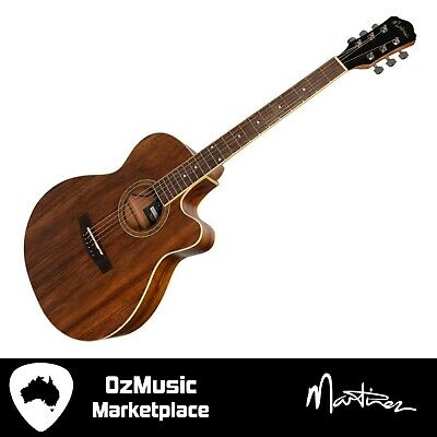 AU239.20 • Buy NEW Martinez 41 Series '000' Folk Size Cutaway Acoustic-Electric Guitar Rosewood