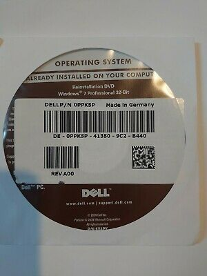 Dell Windows 7 Professional 32bit Reinstallation Disk DVD • 8£