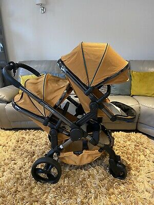 Twin ICandy Peach Nectar 2019 Pram / Travel System / Double Buggy / Pushchair • 399£