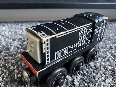 Diesel - Thomas & Friends Wooden Railway Train (Learning Curve) RARE Unsmiling • 3£