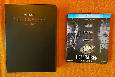 Hellraiser Trilogy Blu Ray In Wooden Lacquer Box Inc. 35mm Frames From Film • 36£