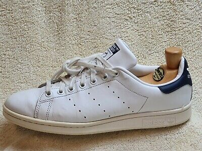 AU8.92 • Buy Adidas Stan Smith Mens Trainers Leather White/Navy UK 9 EUR 43.5 US 9.5