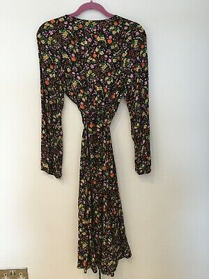 New Look Floral Wrap Dress Size 14 • 3£