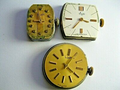 $ CDN6.85 • Buy  VINTAGE  LUCH  - USSR   Lady`s   Watch  Moviments  For Parts - L 1371