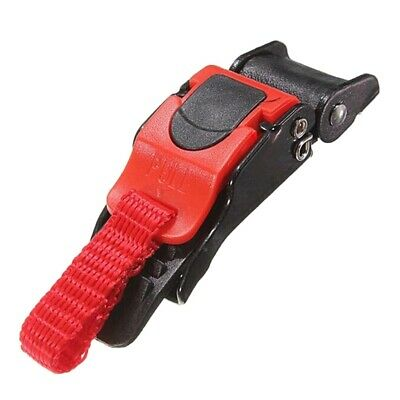 £3.99 • Buy Plastic Motorcycle Helmet Speed Clip Chin Strap Quick Release Red/Black