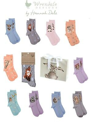 £7.99 • Buy Wrendale Designs Bamboo Socks With Gift Bag - Assorted  Designs