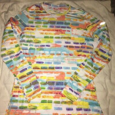 BNWT Womens/ladies Baselayer Beautiful Colourful Block Top • 5£