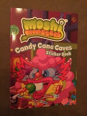 Moshi Monsters Candy Cane Caves Sticker Activity Book - New • 2.95£
